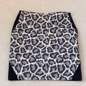 DVF leopard print skirt